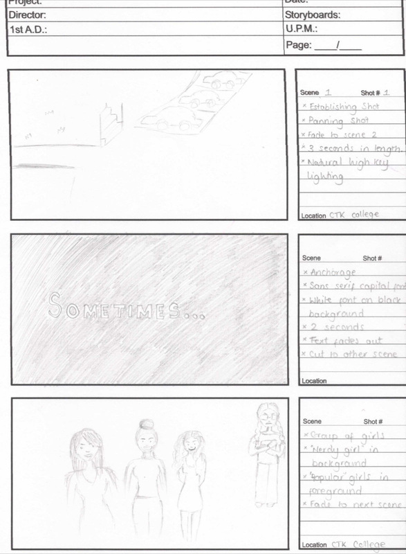 Mock Up'S: Story Board, Animatic And Magazine, Poster Drafts -